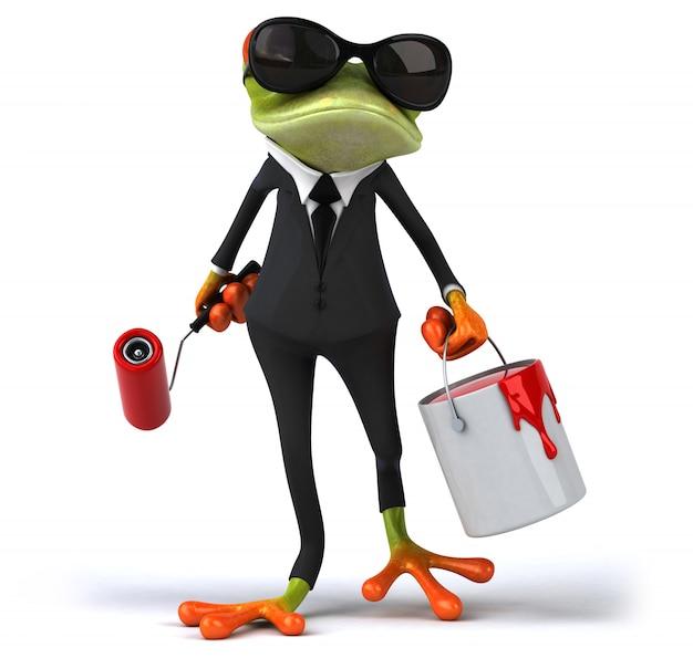 Animation amusante de grenouille