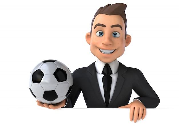 Animation amusante d'homme d'affaires