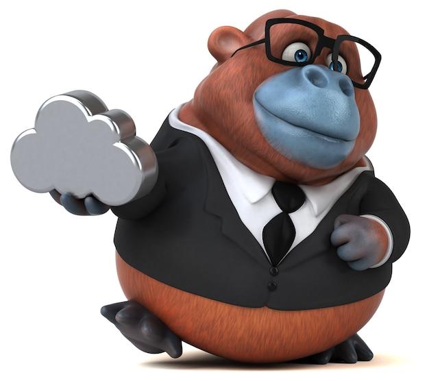 Animation amusante sur l'orang outan