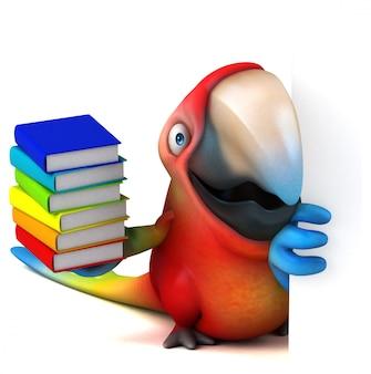 Animation amusante de perroquet