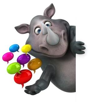 Animation amusante de rhinocéros