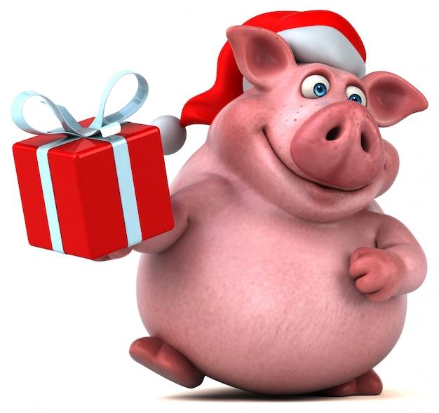 Animation amusante de santa pig
