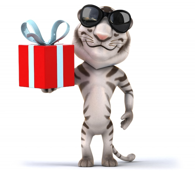 Animation amusante de tigre