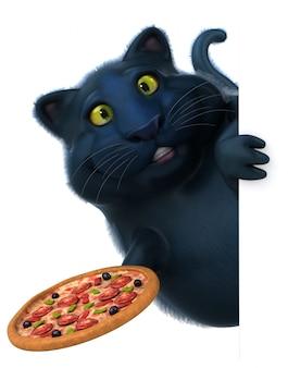 Animation de chat amusant