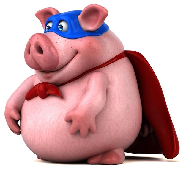 Animation cochon amusante