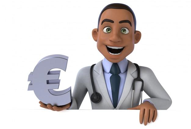 Animation de docteur amusant