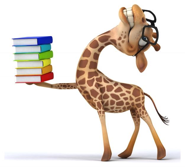 Animation girafe amusante