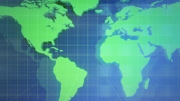 Animation graphique d'introduction de nouvelles avec grille et carte du monde, fond abstrait. style d'illustration 3d élégant et luxueux pour les actualités et le modèle d'entreprise