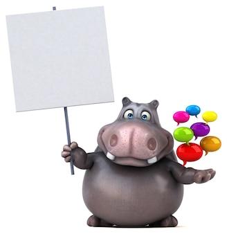 Animation hippopotame