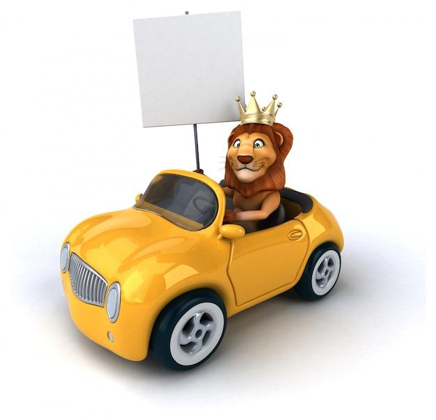 Animation de lion amusant