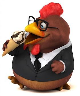 Animation de poulet amusante