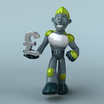 Animation de robot vert