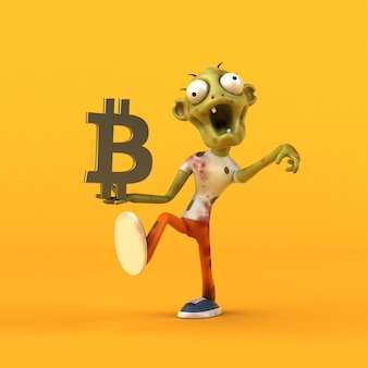 Animation zombie et bitcoin
