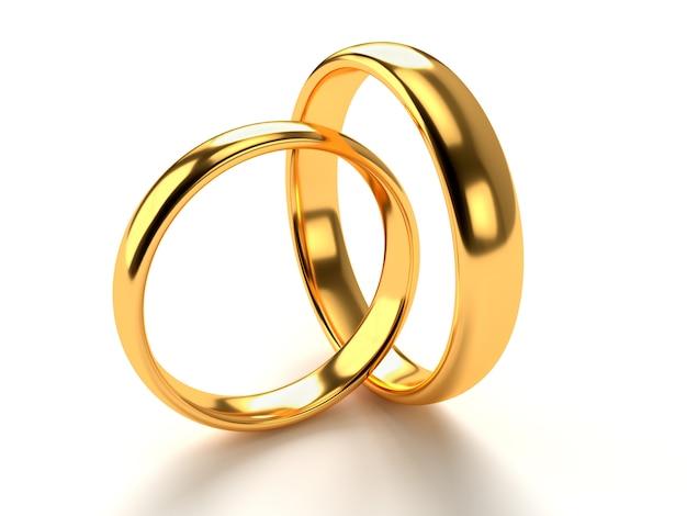 Anneaux d'or de mariage