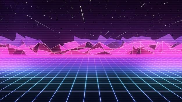 Années 80, futuriste rétro synthwave