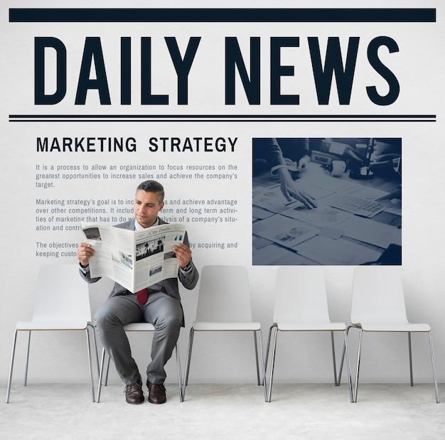 Annonce de nouvelles quotidiennes concept de rapport d'information