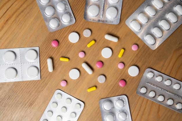 Antécédents médicaux avec pilules et capsule