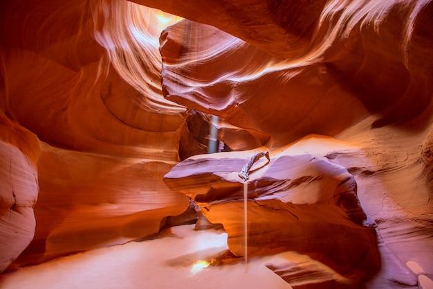 Antelope canyon, arizona, sur les terres navajos près de page