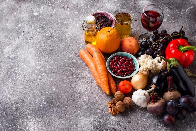 Antioxydants dans les produits. une alimentation propre