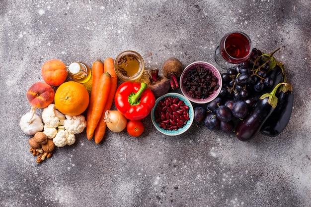 Antioxydants dans les produits. manger sainement
