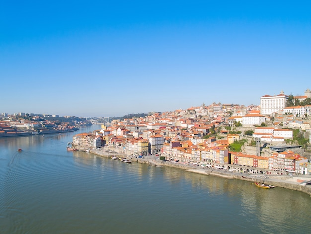 Aperçu de la vieille ville, porto d'en haut, portugal