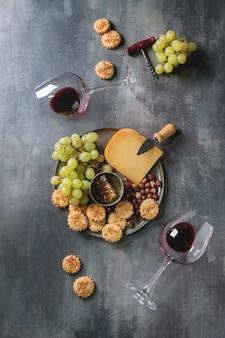 Apéritif fromages et raisins