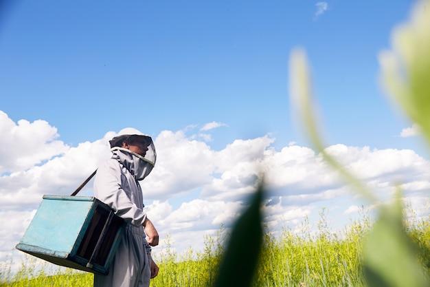 Apiculteur moderne à meadow