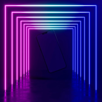 Appareil moderne avec néon