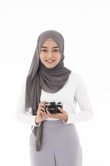 Appareil photo fille musulmane