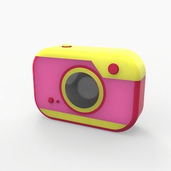 Appareil photo pastel minimal coloré comme jouet