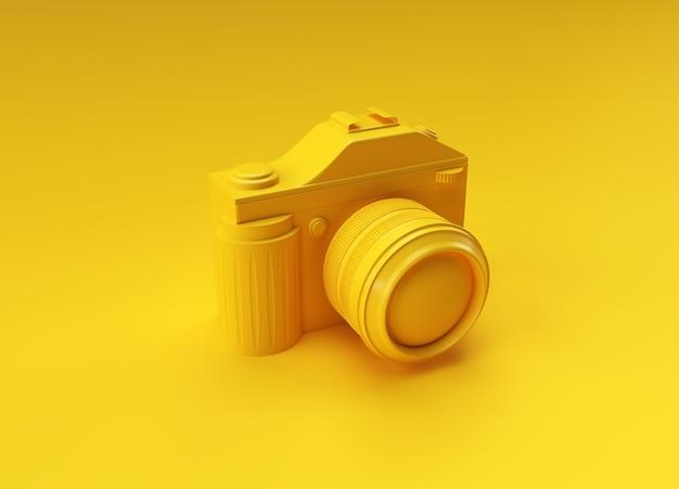 Appareil photo reflex de rendu 3d sur une illustration couleur.