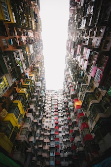 Appartements colorés à hong kong
