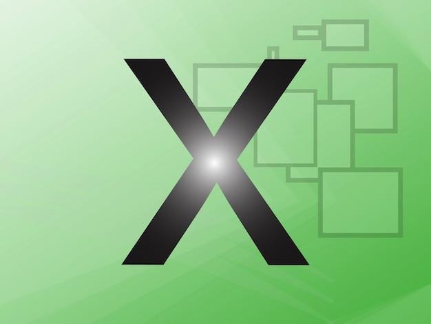 Apple computers alphabet vecteur x