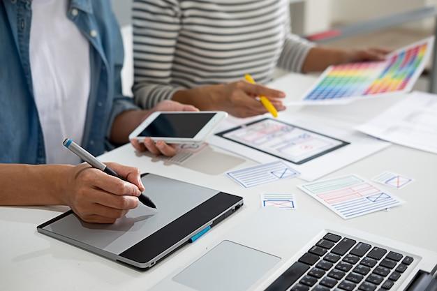 Application de planification creative web designer et mise en forme du modèle,
