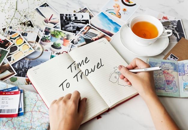 Appréciez le concept de voyage de voyage de vacances