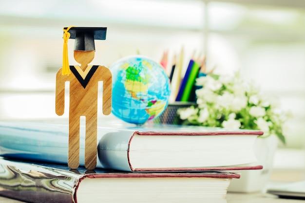 Apprendre la connaissance de l'éducation étudier à l'étranger international des idées. bois d'étudiant