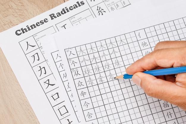 Apprenez à écrire des caractères chinois en classe