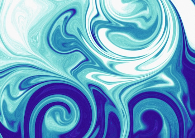Aqua abstrait marbré