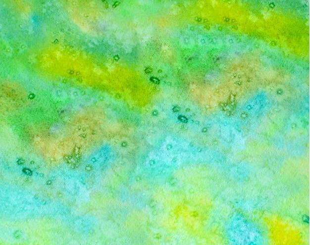Aquarelle abstraite en couleur vintage vert jaune.