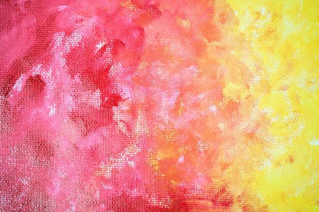 Aquarelle abstraite fond jaune rouge.