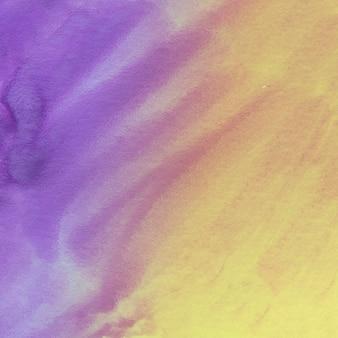 Aquarelle abstraite fond jaune et violet