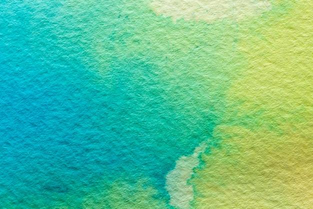 Aquarelle abstraite fond vert clair et foncé