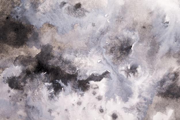 Aquarelle abstraite grise