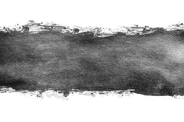 Aquarelle abstraite noir éclaboussant des arrière-plans, peinture à la main sur papier.