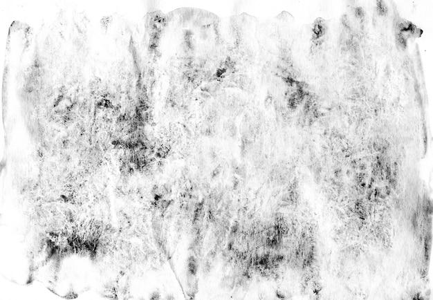 Aquarelle abstraite peinte en noir et blanc