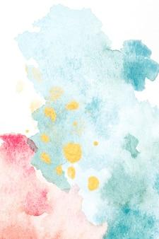 Aquarelle abstraite sur la texture du papier