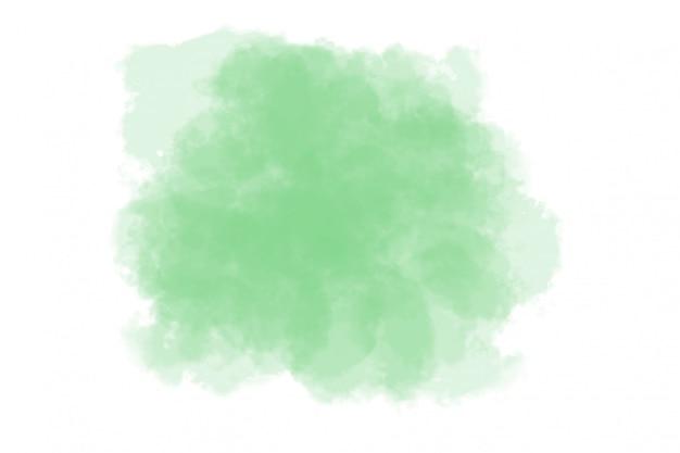 Aquarelle abstraite verte sur blanc