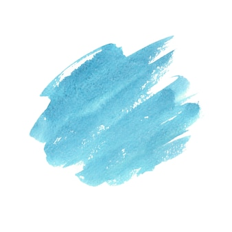 Aquarelle abstraite verte et bleue sur blanc. éclaboussures colorées sur papier. illustration dessinée à la main.