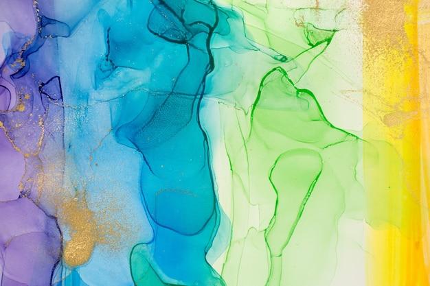 Aquarelle arc-en-ciel taches abstraites fond texture dégradé d'encre