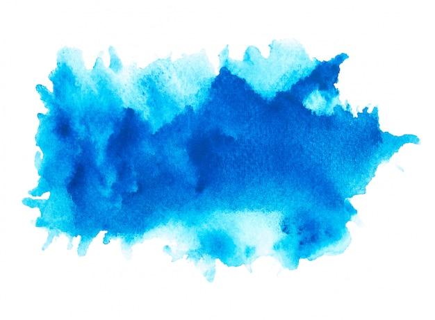 Aquarelle d'art bleu.